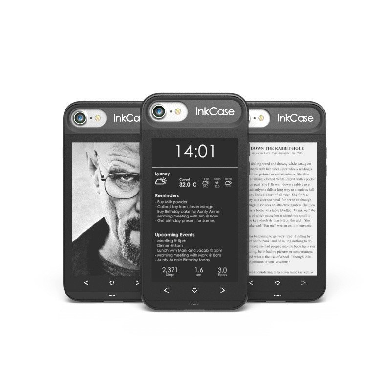 Oaxis InkCase adds e-Ink display to your iPhone - GadgetDetail