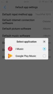 Vivo V5 : How to change default application - GadgetDetail