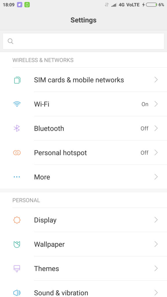 Xiaomi Redmi Note 4 : Settings that benefit at night