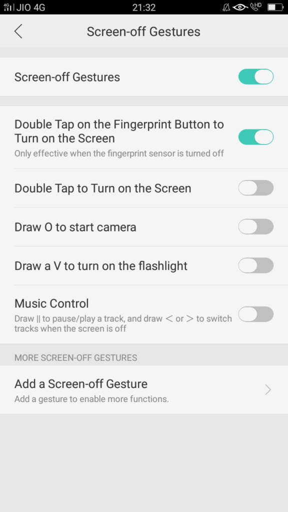 Oppo A57 : How to use gestures to speed up interaction