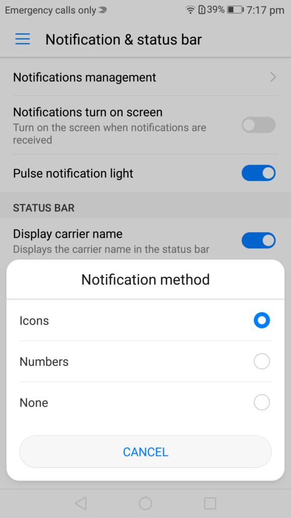 emui notifications sounds