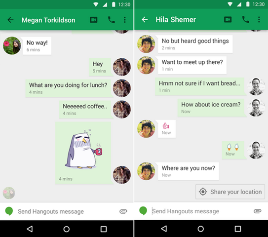 Hangouts for Android gets stickers, 'last seen' and video filters
