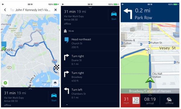 nokia here maps released for ios brings offline navigation for free gadgetdetail. Black Bedroom Furniture Sets. Home Design Ideas