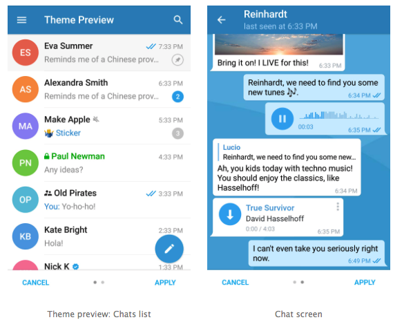 Telegram to Your Taste: You Can Create Your Own Theme from The Application